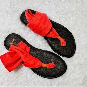 SANUK Pink Yoga Sling Sandals